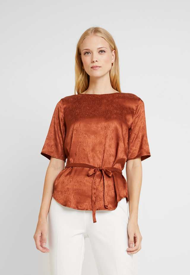 DRECLIO BLOUSE - Blouse - leather brown