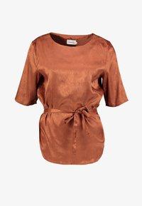Dranella - DRECLIO BLOUSE - Camicetta - leather brown - 5