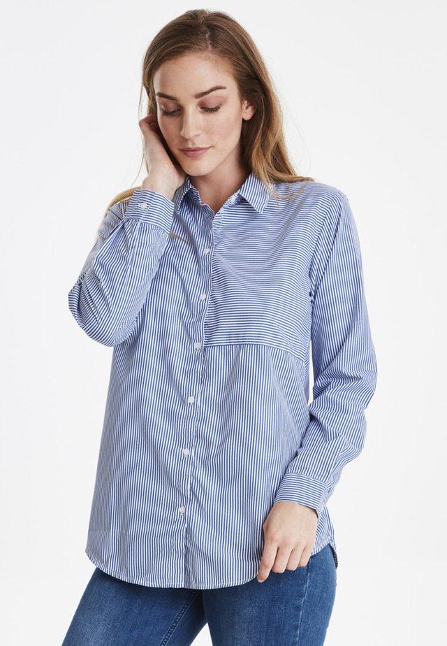 DXSYRINE - Button-down blouse - mid blue