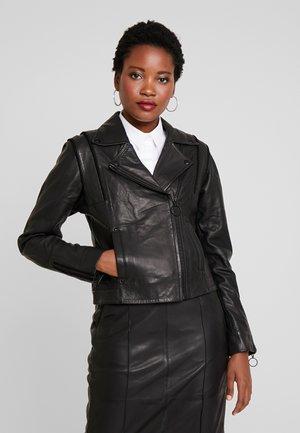 DRGADIR JACKET - Leren jas - black