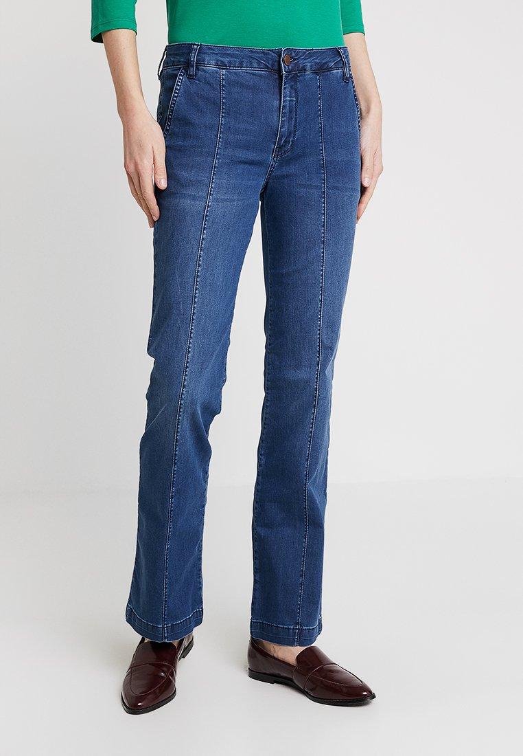 Dranella - DRCOAH FASHION FIT - Flared Jeans - castro blue