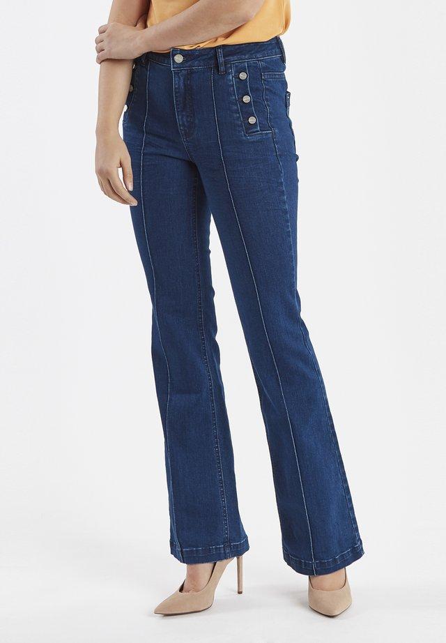 Flared Jeans - modern blue