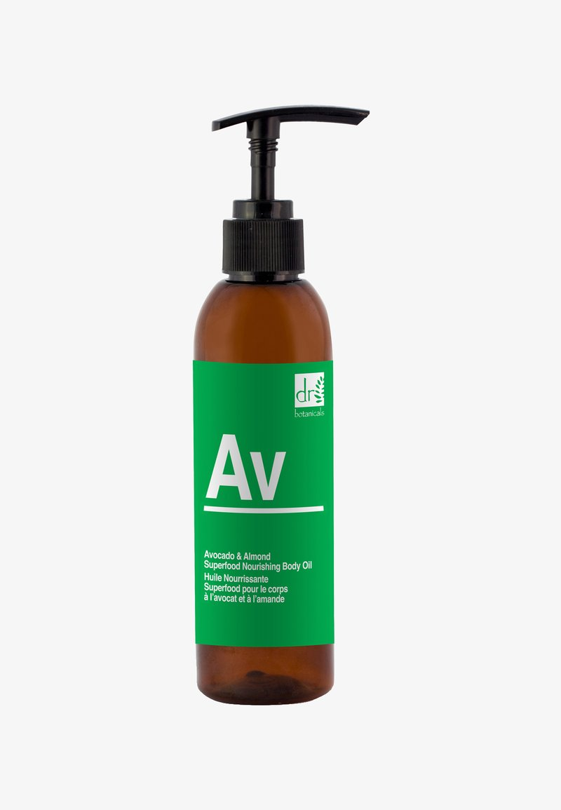 Dr Botanicals - AVOCADO & ALMOND SUPERFOOD NOURISHING BODY OIL 200ML - Huile pour le corps - -