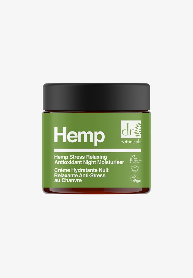 HEMP STRESS RELAXING ANTIOXIDANT NIGHT MOISTURISER 50ML - Trattamenti notte - -
