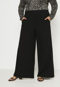 Dr.Denim Plus - BELL TROUSERS - Trousers - black - 0