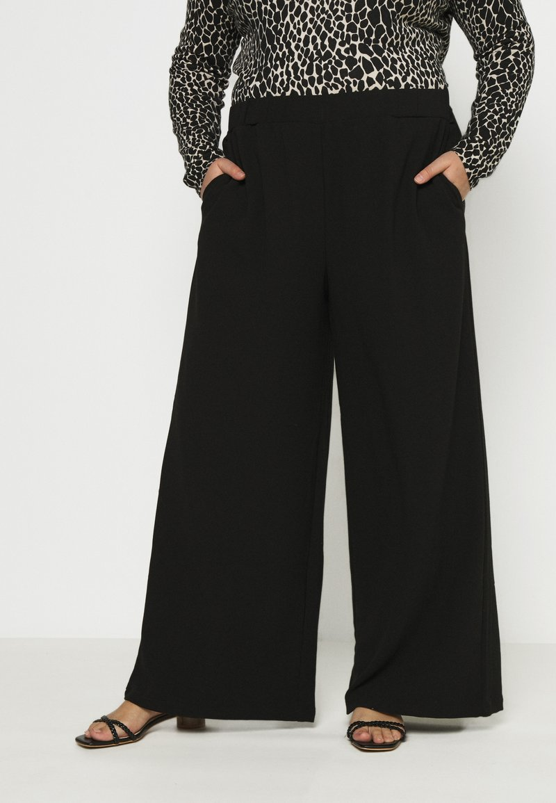 Dr.Denim Plus - BELL TROUSERS - Trousers - black