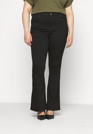 SONIQ FLARE - Flared jeans - black