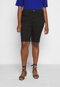 Dr.Denim Plus - LEXY - Denim shorts - black - 0