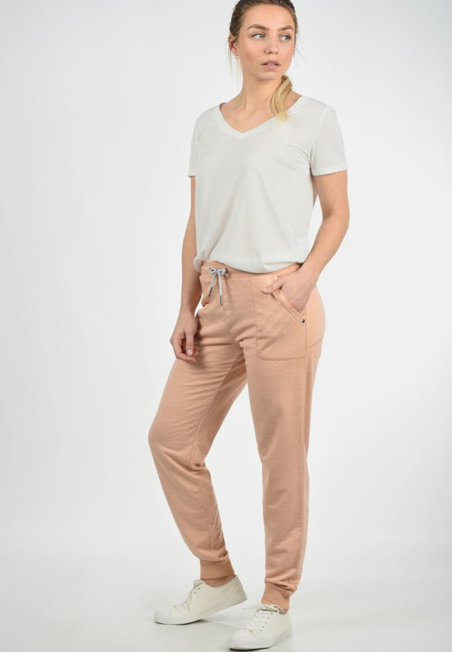BETTY - Tracksuit bottoms - mahog rose