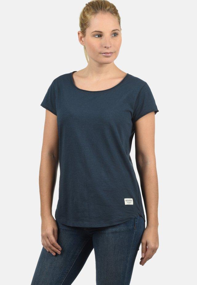 T-SHIRT LYDI - Basic T-shirt - blue