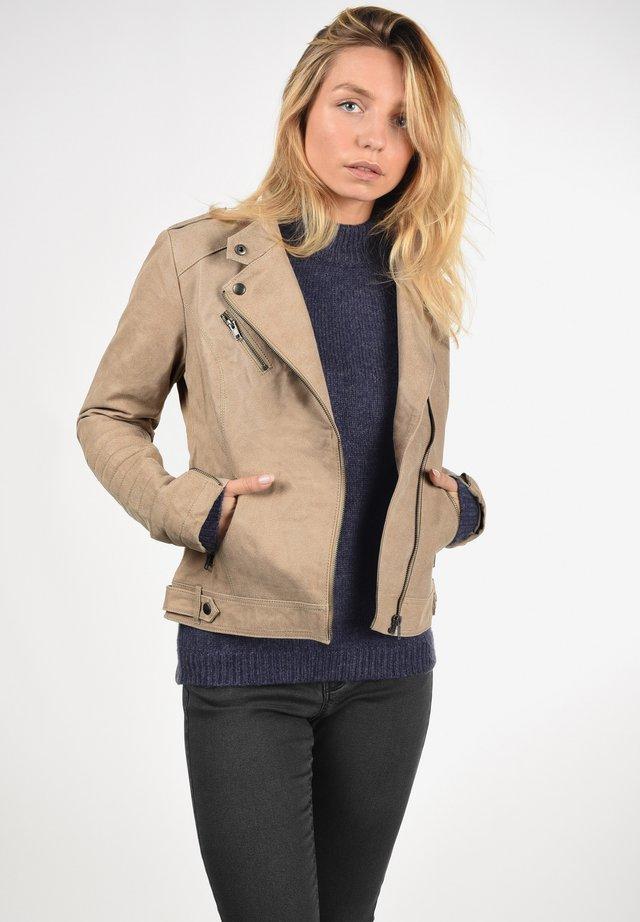 LEDERJACKE ZALLA - Leather jacket - beige