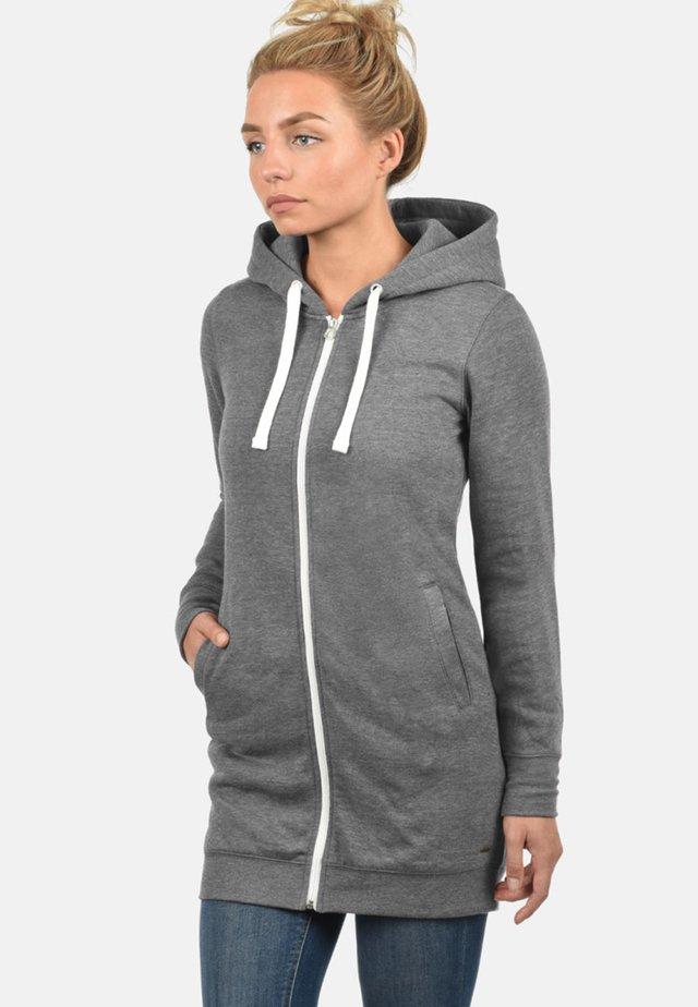 KAPUZENSWEATJACKE DERBY LONG - Zip-up hoodie - grey melange