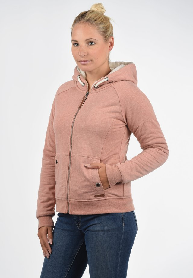 MANDY PILE - Zip-up hoodie - powder rose