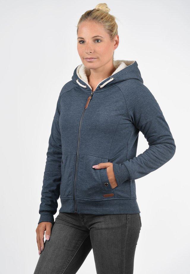 MANDY PILE - Zip-up hoodie - mottled blue