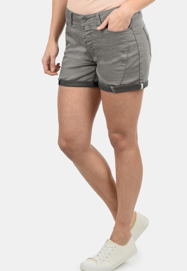 ELJA - Denim shorts -  dark grey