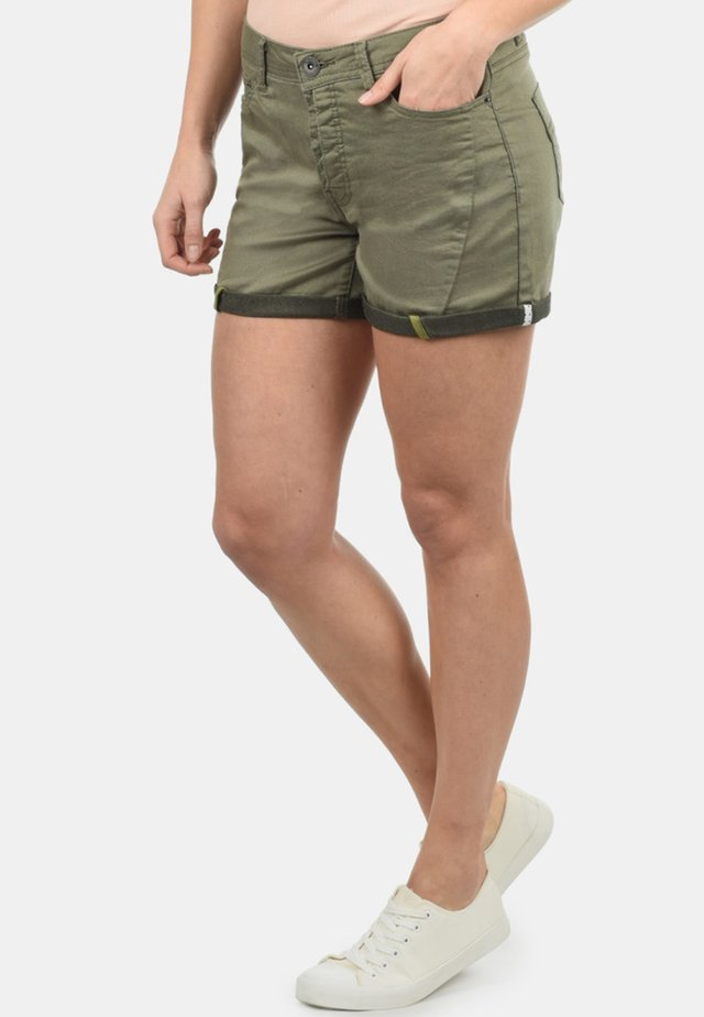 ELJA - Denim shorts - dusty olive