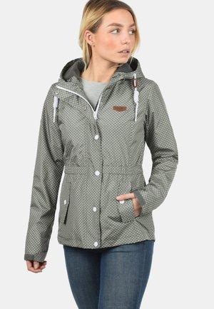 TONI - Outdoor jacket - grey/dark green
