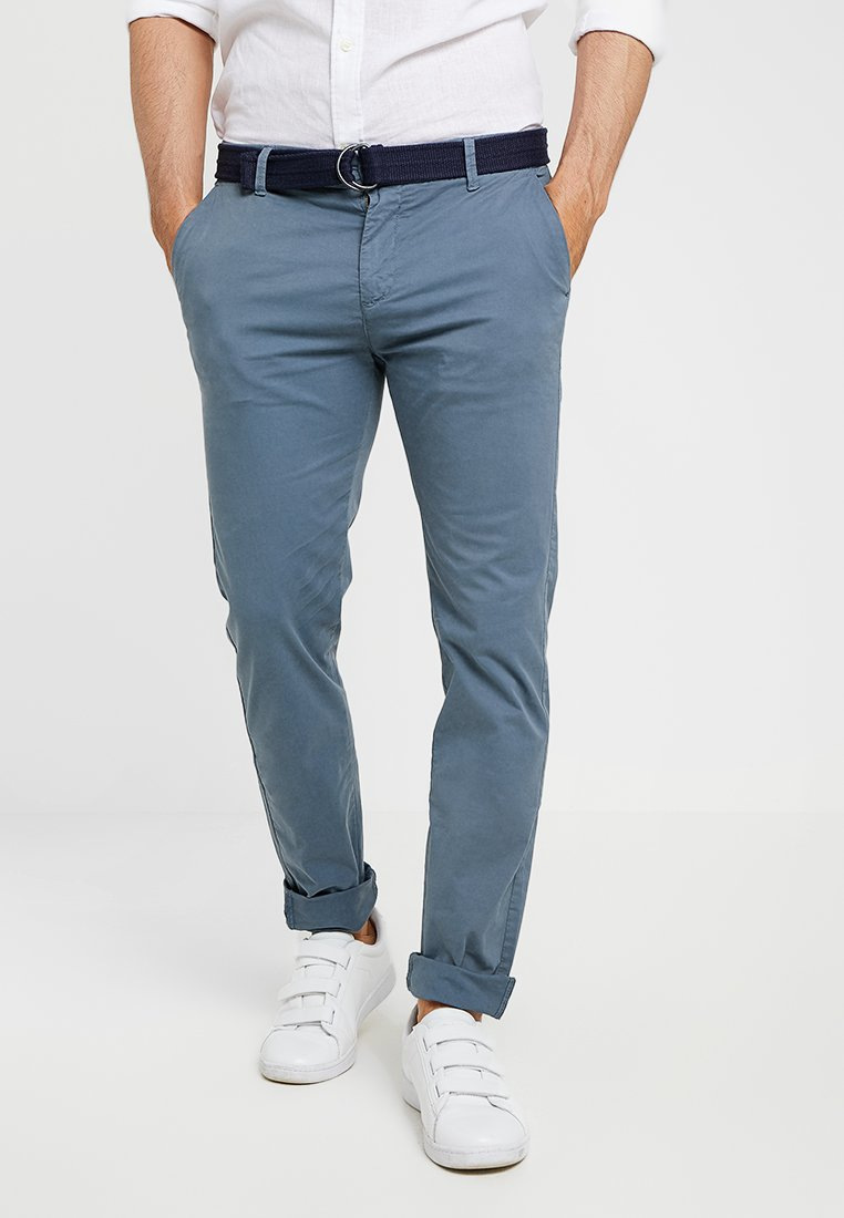 Dstrezzed - SLIM FIT BELTED - Pantalones chinos - medium grey