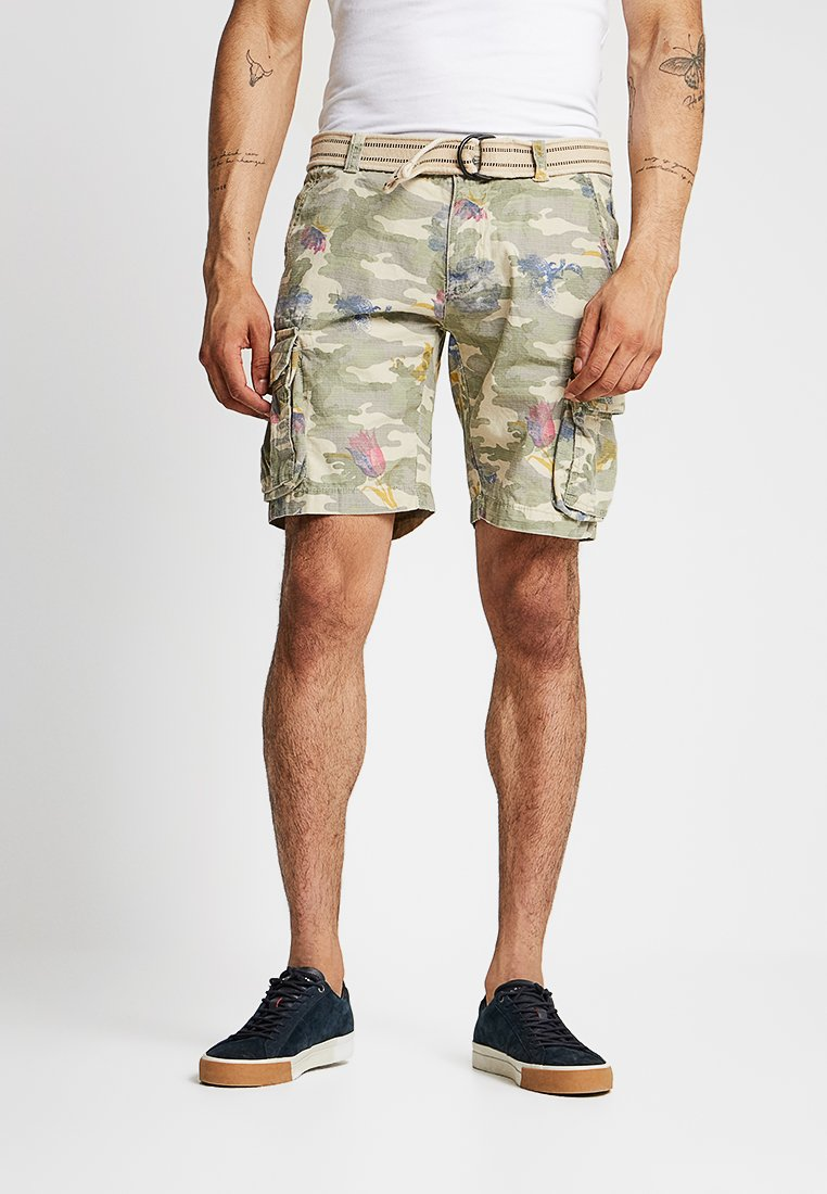 Dstrezzed - COMBAT WITH BELT RIPSTOP - Shorts - army green