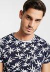Dstrezzed - CREW PALM SINGLE - T-shirt imprimé - navy