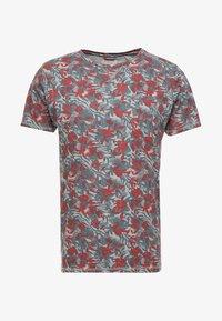 Dstrezzed - CREW TROPIC GARDEN MELANGE - T-Shirt print - medium grey melange - 3