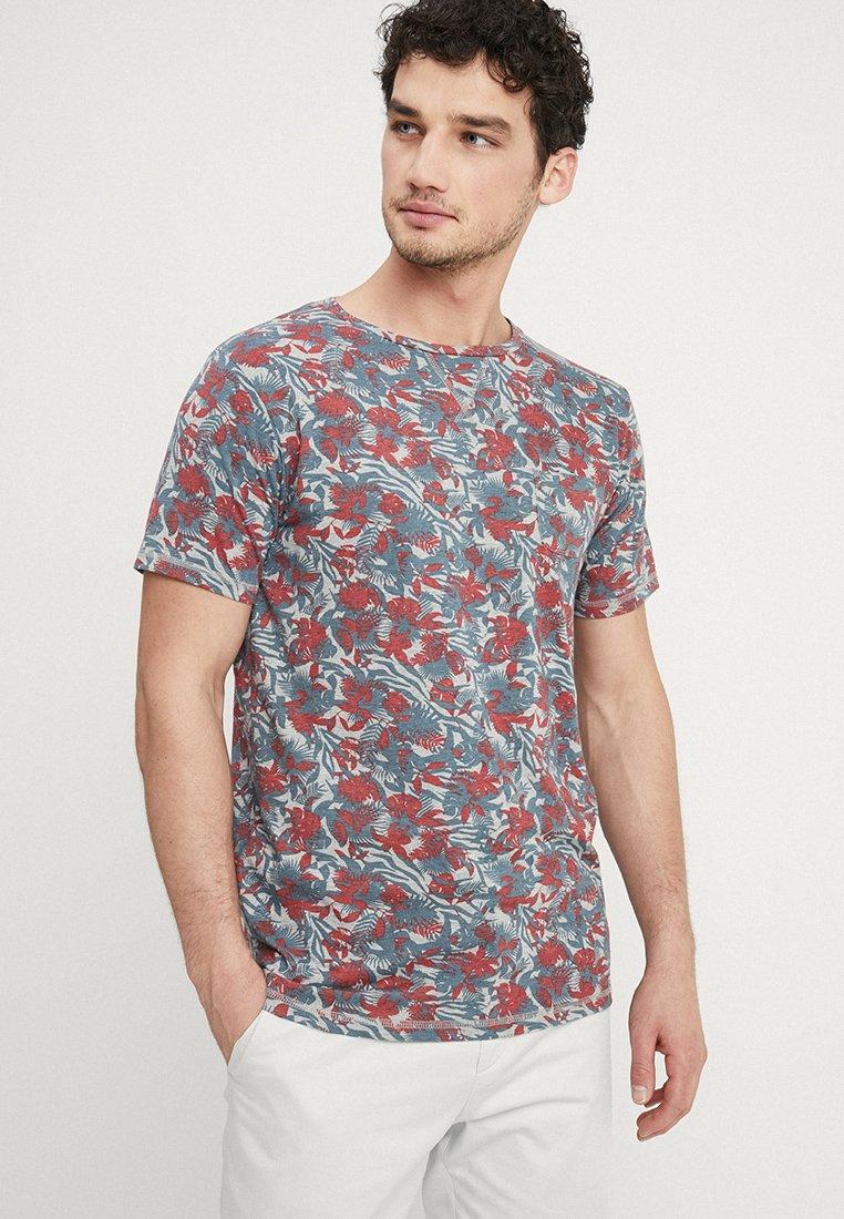 Dstrezzed - CREW TROPIC GARDEN MELANGE - T-Shirt print - medium grey melange