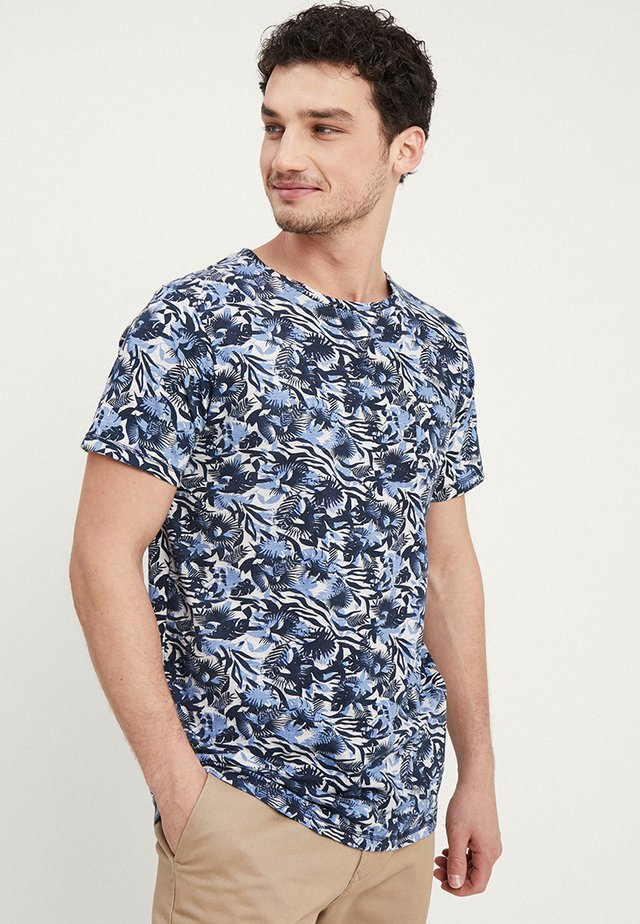 CREW TROPIC GARDEN MELANGE - Print T-shirt - blue