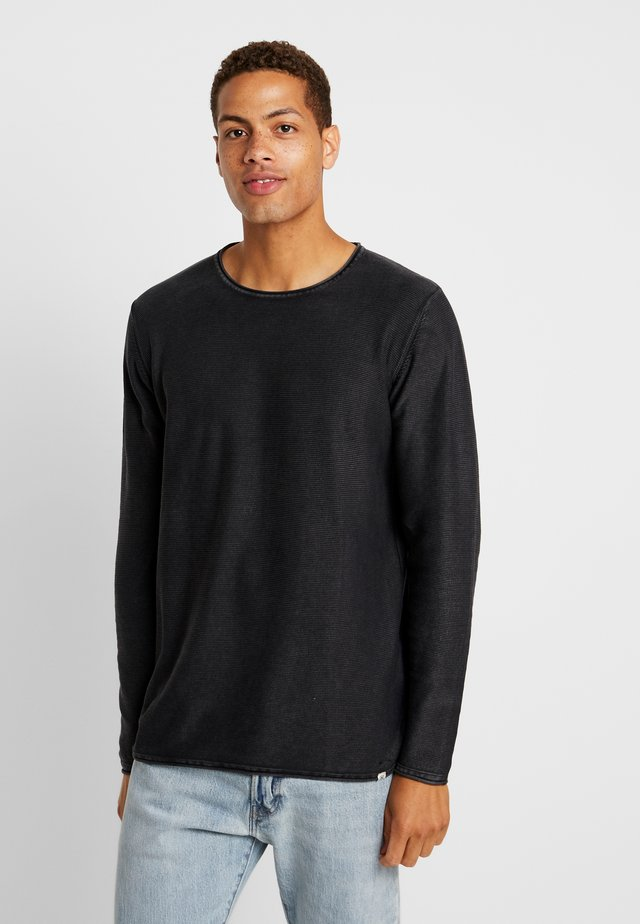 COOPER CREW ACID  - Stickad tröja - black