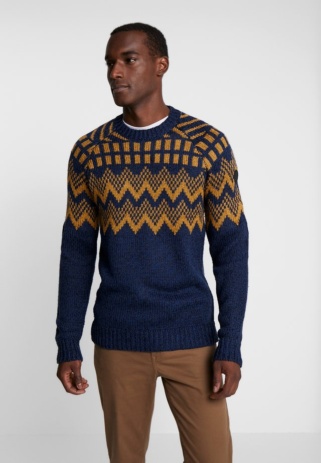 ROUND NECK  - Pullover - dark blue