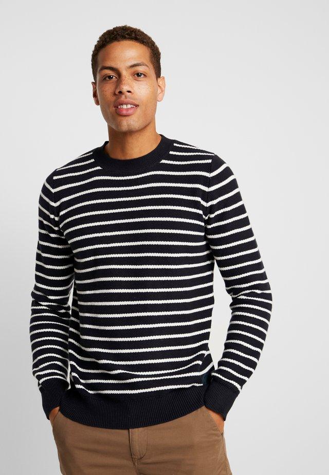 CREW STRUCTURE  - Stickad tröja - navy