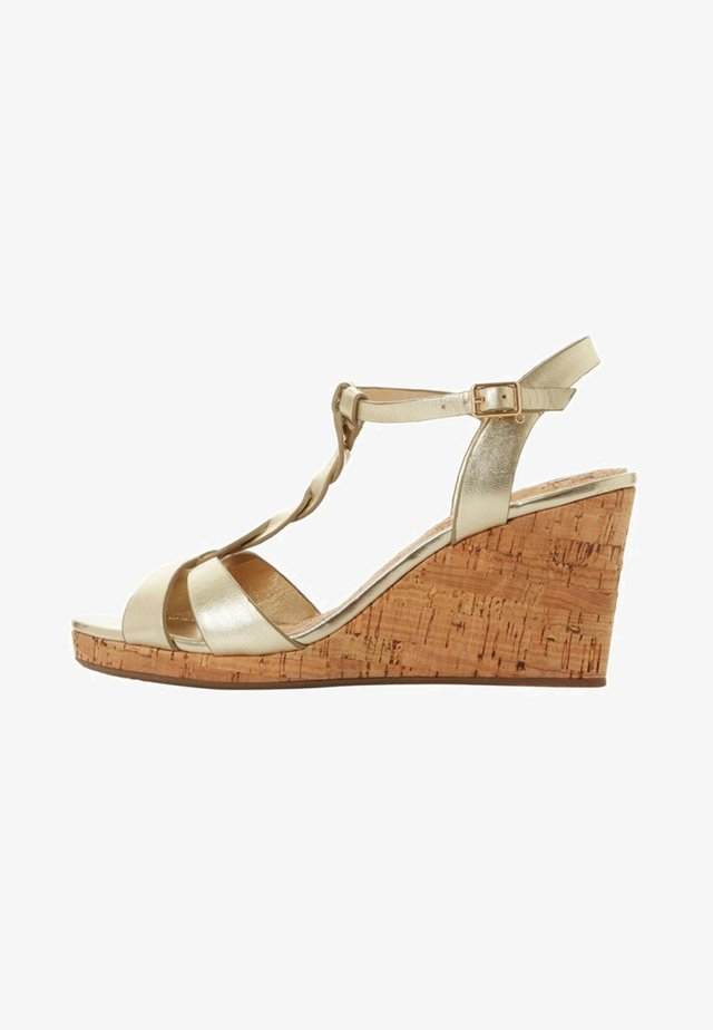 KOALA - Wedge sandals - gold