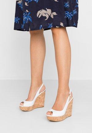KIMMBER - Sandály na vysokém podpatku - white