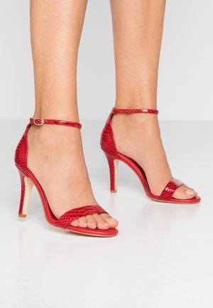 MYDRO - Sandály na vysokém podpatku - red