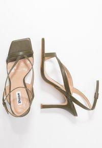 Dune London - MONTEREY - High heeled sandals - khaki - 3