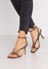 Dune London - MONTEREY - High heeled sandals - khaki - 0