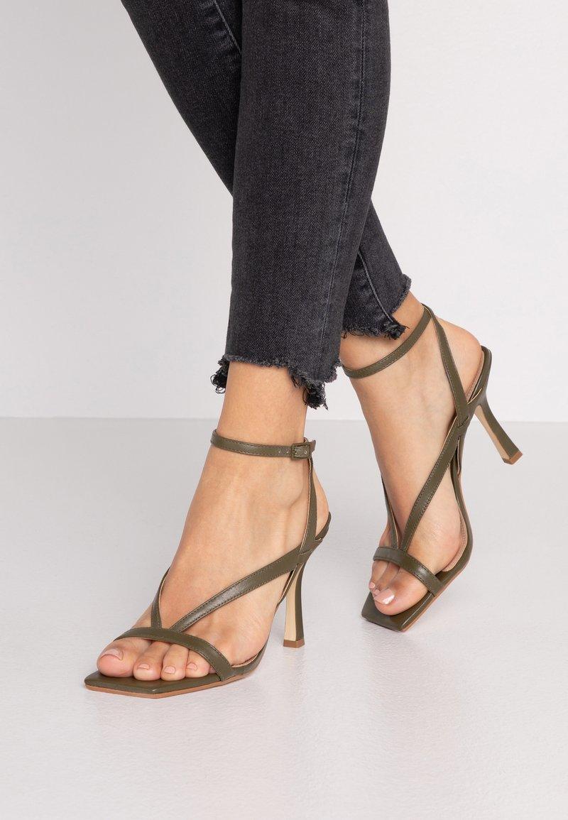 Dune London - MONTEREY - High heeled sandals - khaki