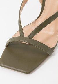 Dune London - MONTEREY - High heeled sandals - khaki - 2