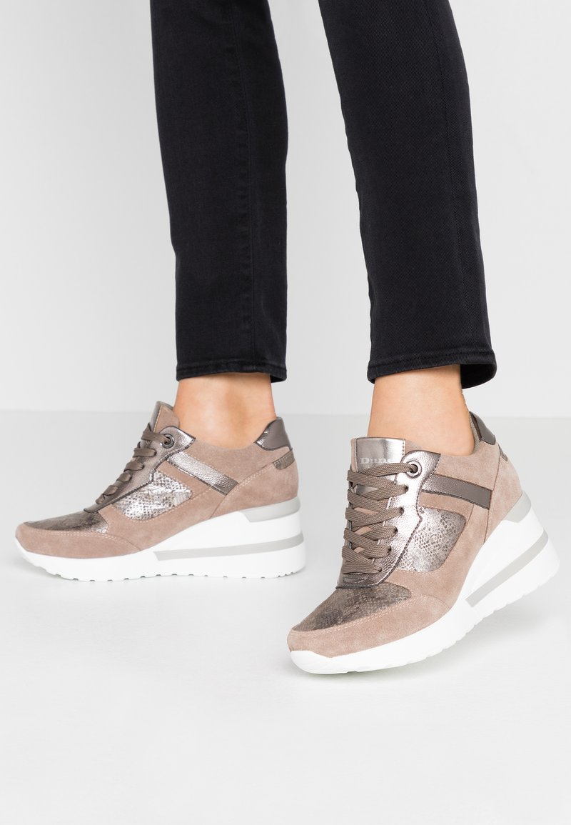 Dune London - ELOUERA - Trainers - taupe