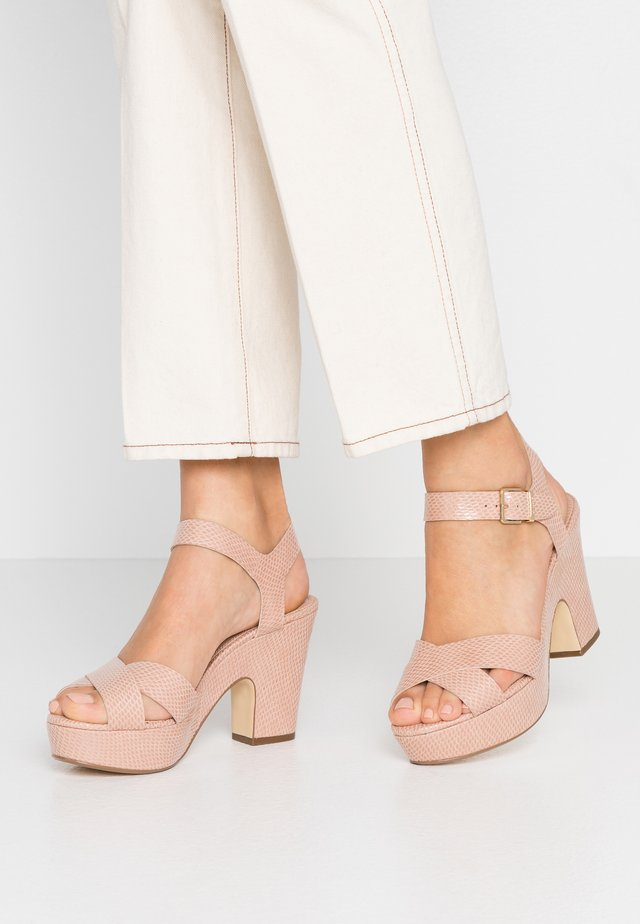 IYLENES - High heeled sandals - nude