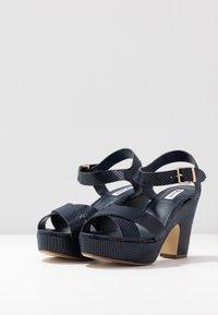 Dune London - IYLENES - High heeled sandals - navy - 4