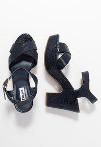 Dune London - IYLENES - High heeled sandals - navy - 3
