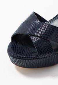 Dune London - IYLENES - High heeled sandals - navy - 2