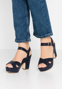 Dune London - IYLENES - High heeled sandals - navy - 0