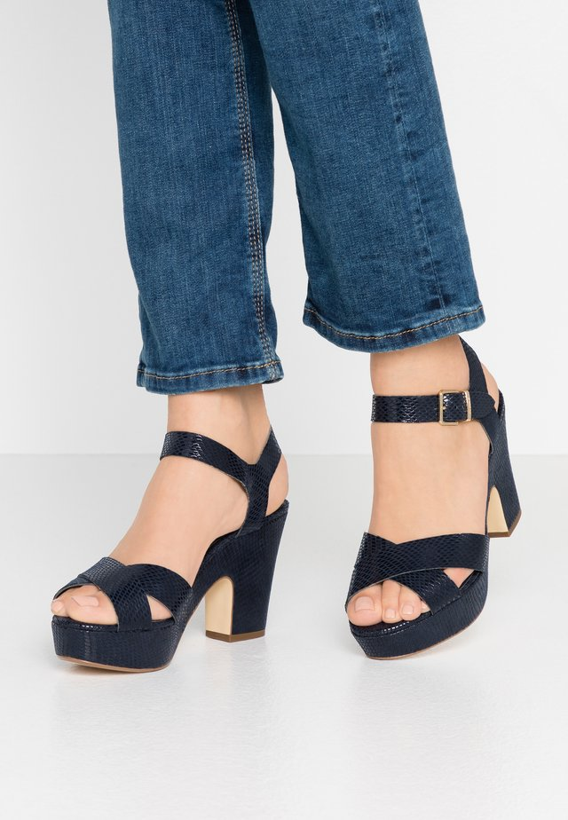 IYLENES - High heeled sandals - navy