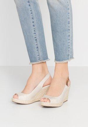 KICKS - High heeled sandals - natural