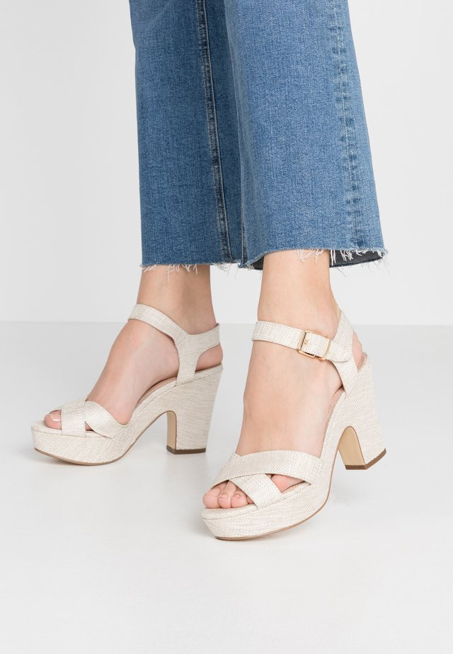 JIYLA - Sandalen met hoge hak - natural
