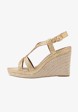 KEW - High heeled sandals - gold
