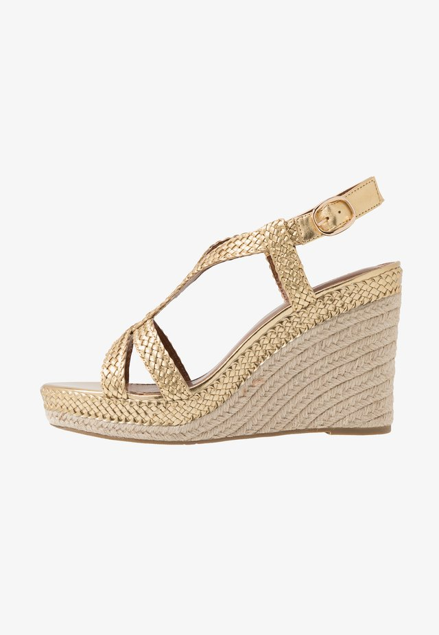 KEW - High heeled sandals - gold