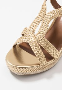 Dune London - KEW - High heeled sandals - gold - 5