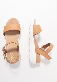 Dune London - KYOTO - Platform sandals - caramel - 3